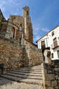 Streets of the small spanish town Morella. Stock Photography