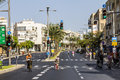 The streets of tel aviv during the religion holiday yom kippur september Royalty Free Stock Image