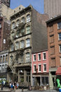 Streets of Tribeca in New York City, Manhattan Royalty Free Stock Photo