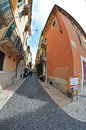 Streets of verona street the medieval old town Royalty Free Stock Photos