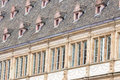 Streetv view with french window style,Strasbourg,Alsace,France Royalty Free Stock Photo