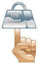 Strength icon concept clipart illustration Royalty Free Stock Photos