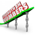 Strength in Numbers 3d Words Arrow Team Working Together Goal Royalty Free Stock Photo
