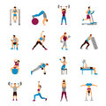 Strength Training Workout Set Royalty Free Stock Photo