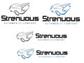 Strenous automobile company strenuous logo design Stock Photos