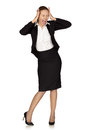 Stress. Business woman frustrated Royalty Free Stock Photo