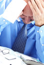 Stress. Businessman in the office Royalty Free Stock Photography