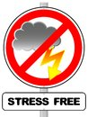 Stress free sign vector illustration of a Royalty Free Stock Photography