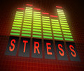 Stress levels concept illustration depicting graphic equalizer bars with a Royalty Free Stock Photography