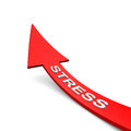 Stress ren arrow with txt on it Royalty Free Stock Photo