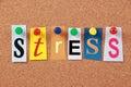 Stress Single Word Royalty Free Stock Photo