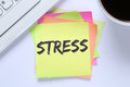 Stress stressed burnout at work relaxed desk Royalty Free Stock Photo