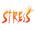 Stress typography illustration of the word Royalty Free Stock Photos