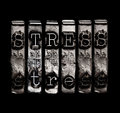 Stress word in metal type Royalty Free Stock Images