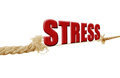 Stress the word resting on a breaking rope Royalty Free Stock Photography