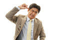 Stressed asian businessman tired and Stock Images