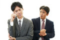 Stressed asian businessmen tired and Stock Images