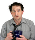 Stressed Coffee Guy Royalty Free Stock Photo