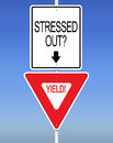 Stressed out yield an illustration of Royalty Free Stock Photography
