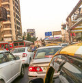 Stressful driving in mumbai due to the close proximity of vehicles around you Royalty Free Stock Photo