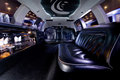 Stretch limousine a luxury interior Stock Photos