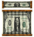 Stretched dollars photo illustration of u s dollar bill retouched to appear horizontally and then vertically Stock Photos