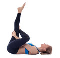 Stretching of pyramidal muscle Royalty Free Stock Photo