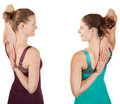 Stretching Shoulders Stock Images