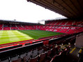 The Stretford End of Old Trafford Stadium Royalty Free Stock Photography