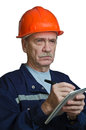 Strict contractor Royalty Free Stock Photos