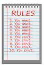 Strict rules bunch of being applied Royalty Free Stock Image