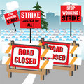 Strike action Stock Photo