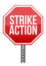 Strike Action Illustration Sign