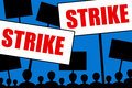 Strike angry people and employees going on Royalty Free Stock Photo