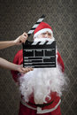 Strike a pose santa invades hollywood with confidence Stock Images