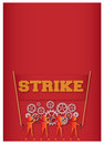 Strike workers go on for their financial freedom Royalty Free Stock Image