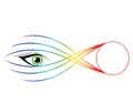 Striking eye illustration. Royalty Free Stock Photography