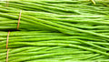 String bean fresh at flea market Royalty Free Stock Photo
