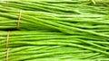 String bean fresh at flea market Royalty Free Stock Photo