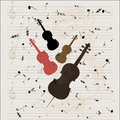 String instruments shape and musical sheet