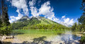 String lake panorama summer panoramic view of in grand teton national park wy Stock Photography
