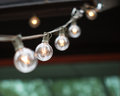 String of lights decorative with shallow depth field Royalty Free Stock Images