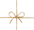 String or twine tied in a bow isolated on white background Royalty Free Stock Photo
