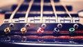 Strings Of A Jazz Bass Guitar