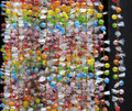 Strings of sugar candy beads, background Stock Photos