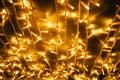 Strings of yellow Christmas lights
