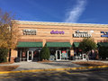 Strip mall stores Royalty Free Stock Photo