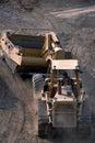 Strip mining coal Royalty Free Stock Photo