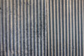 Strip zinc wall texture of old with rusty nail Royalty Free Stock Photo