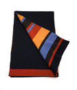 Stripe and Navy Scarf Stock Photography
